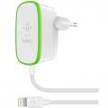 Фото Сетевое ЗУ Belkin USB Home Charger 2.4A c кабелем Lightning (F8J204vf06-WHT)