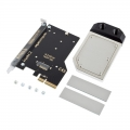 Фото Водоблок AquaComputer kryoM.2 PCIe 3.0 x4 adapter for M.2 NGFF PCIe SSD, M-Key with nickel plated