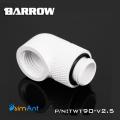 Фото Поворотный угловой адаптер 90 градусов Barrow (TWT90-v2.5) G1/4 белый