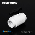 Фото Кран G1/4 Barrow (TLQFS-V1) белый корпус с черной ручкой