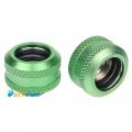 Фото Штуцер для жестких трубок внешним диаметром 14мм с гайкой (Зеленый)
