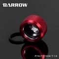 Фото Штуцер для жестких трубок Barrow 16мм красный (TFYKN-T16)