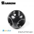 Фото Разветвитель 5 входов G1/4 металлический Barrow (TLFT5T-A01) черный