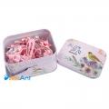 Фото Подарочный набор детских заколок в металлической коробке розовый