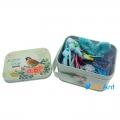 Фото Подарочный набор детских заколок в металлической коробке голубой