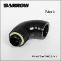 Фото Двойной поворотный угловой адаптер 90 градусов Barrow (TSWT902-V1) G1/4 черный