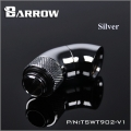 Фото Двойной поворотный угловой адаптер 90 градусов Barrow (TSWT902-V1) G1/4 серебристый