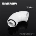 Фото Двойной поворотный угловой адаптер 90 градусов Barrow (TSWT902-V1) G1/4 белый