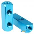 Фото Разветвитель 5 входов G1/4 металлический (синий)