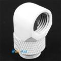 Фото Поворотный угловой адаптер для штуцеров 90 градусов G1/4 (белый)