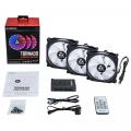 Фото Набор корпусных вентиляторов CHIEFTEC TORNADO 3in1 RGB fan,3x120мм,1200об/мин,6pin,16dBa+Fan hub+ДУ(