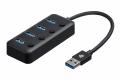 Фото Хаб 2Е USB-A to 4*USB3.0, Hub with switch, 0.25 м (2E-W1405)