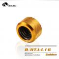 Фото Штуцер для жестких трубок внешним диаметром 16мм с гайкой BykSki (B-HTJ-L16), золотой