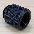 Фото Прямой адаптер 20мм с внутренней и внешней резьбой G1/4 (черный)