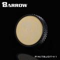 Фото Заглушка Barrow с резьбой G1/4 металическая с черным ободом