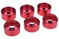 Фото Накидная гайка для моддинга Alphacool Eiszapfen 16 мм HardTube красные 6 шт.