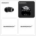 Фото Поворотный угловой адаптер 90 градусов с фитингом Barrowch G1/4, 12 мм