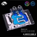 Фото Водоблок от Bykski для видеокарт AMD Radeon Pro WX 5100 7100 8GB с подсветкой (12V AURA)