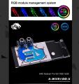 Фото Водоблок от Bykski для видеокарты AMD Radeon Pro WX 9100 16GB с подсветкой (12V 4Pin)