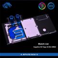 Фото Водоблок от Bykski для видеокарты Sapphire RX Vega 64 8G HBM2 с подсветкой (5V Aura)