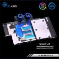 Фото Водоблок от Bykski для видеокарт Sapphire Radeon R9 RX470 RX480 с подсветкой (12V AURA)