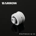 Фото Штуцер для жестких трубок Barrow 16мм с гайкой (TYKN-K16 V4) белый