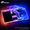 Фото Водоблок от Bykski для видеокарты MSI GTX 1660TI Gaming X с подсветкой RBW Light (5V 3pin)