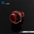 Фото Штуцер Bykski B-TJ3 для трубок 9-10 мм, красный