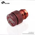 Фото Фитинг-заглушка для шлангов  13x19 мм Bykski B-FS4J,красный