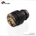 Фото Фитинг-заглушка для шлангов  13x19 мм Bykski B-FS4J,черный
