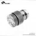 Фото Фитинг-заглушка для шлангов  13x19 мм Bykski B-FS4J,серебристый