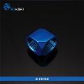 Фото Угловой адаптер 90 градусов от Bykski B-EW90 G1/4, синий