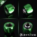 Фото Штуцер для жестких трубок 14мм с гайкой BykSki B-FTJ-XAL-14, зеленый
