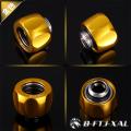 Фото Штуцер для жестких трубок 14мм с гайкой BykSki B-FTJ-XAL-14, золотой