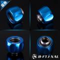 Фото Штуцер для жестких трубок 14мм с гайкой BykSki B-FTJ-XAL-14, синий