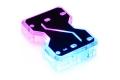 Фото Коннектор для водоблоков двух карт в SLI Alphacool Aurora GPX SLI Dual X4 с RGB подсветкой