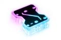 Фото Коннектор для водоблоков двух карт в SLI Alphacool Aurora GPX SLI Dual X3 с RGB подсветкой