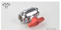 Фото Кран Syscooling корпус хром + красная ручка