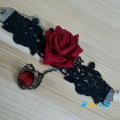 Фото Браслет Красная роза с кольцом