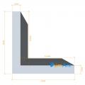 Фото Алюминиевый уголок анодированный 15х15х1.5мм
