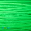 Фото Нейлоновая оплетка для проводов зеленая 3мм (УФ-активная)