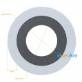 Фото Труба алюминиевая круглая анодированная 15х2мм
