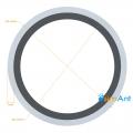 Фото Труба алюминиевая круглая анодированная 40х2мм