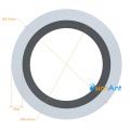 Фото Труба алюминиевая круглая анодированная 20х2мм