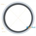 Фото Труба алюминиевая круглая анодированная 45х2мм