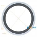 Фото Труба алюминиевая круглая анодированная 30х1.5мм