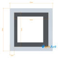 Фото Труба алюминиевая квадратная анодированная 20х20х2мм