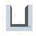 Фото Алюминиевый П-образный профиль анодированный 12х12х1.5мм