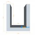 Фото Алюминиевый П-образный профиль анодированный 13х15х1.5мм