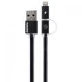 Фото USB-кабель для Remax Lightning/microUSB Aurora Cable (Black)